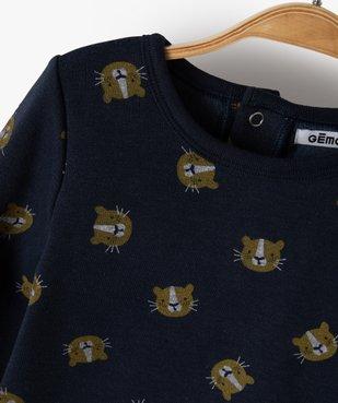 Pyjama bébé garçon 2 pièces imprimé lionceaux vue2 - GEMO(BB COUCHE) - GEMO