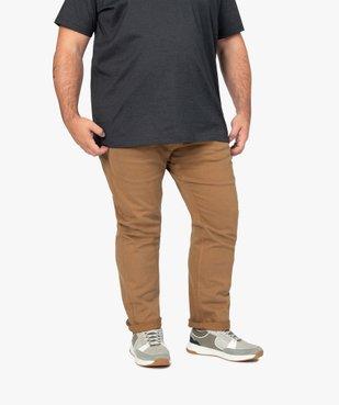 Pantalon homme coupe Straight en toile épaisse vue1 - GEMO (G TAILLE) - GEMO