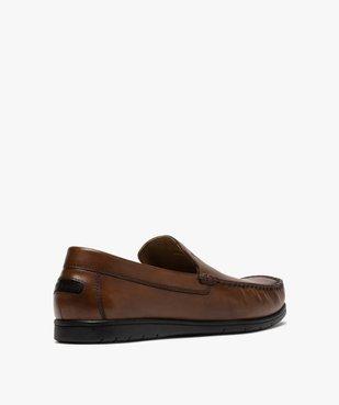 Mocassins homme unis en cuir – Pierre Cardin vue4 - PIERRE CARDIN D - Nikesneakers