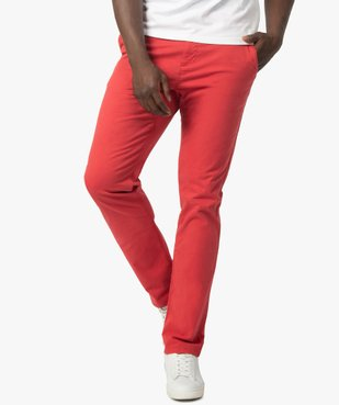 Pantalon chino homme en coton stretch vue1 - GEMO (HOMME) - GEMO