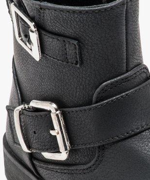 Boots fille unis avec boucles décoratives fermeture zippée vue6 - GEMO (ENFANT) - GEMO