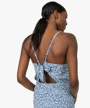 Combinaison pantalon femme à motifs fleuris vue2 - GEMO(FEMME PAP) - GEMO