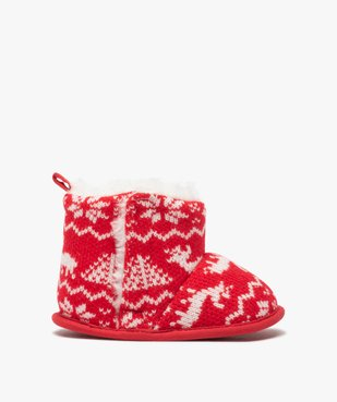 Chaussons de naissance bébé boots de Noël vue1 - GEMO(BB COUCHE) - GEMO