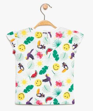Tee-shirt bébé fille à imprimé tropical - SmileyWorld vue2 - SMILEY - GEMO