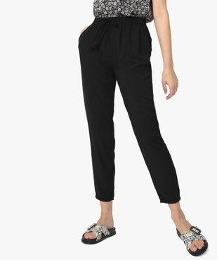Pantalon femme fluide à taille élastiquée vue1 - GEMO(FEMME PAP) - GEMO