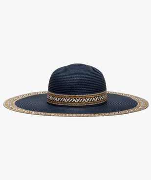 Chapeau femme forme capeline en paille bicolore et fil lurex vue1 - GEMO (ACCESS) - GEMO
