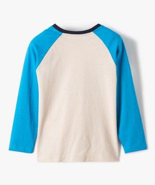 Tee-shirt garçon à manches longues multicolore à motif velours vue5 - GEMO (ENFANT) - GEMO