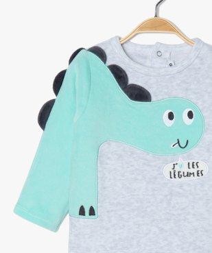 Pyjama bébé garçon en velours à manches fantaisie vue1 - GEMO(BB COUCHE) - GEMO