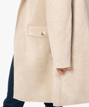 Veste femme longue avec finitions bord-franc vue2 - Nikesneakers(FEMME PAP) - Nikesneakers