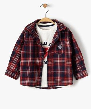 Ensemble 2 pièces bébé garçon : chemise + tee-shirt - Lulu Castagnette vue2 - LULUCASTAGNETTE - GEMO