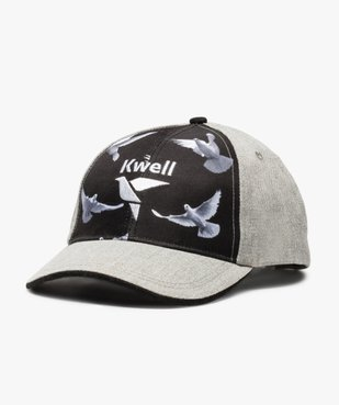 Casquette bicolore avec motifs colombes - Kwell vue1 - KWELL - GEMO