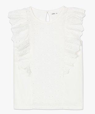 Tee-shirt femme bi-matières ajouré sur l'avant vue4 - GEMO(FEMME PAP) - GEMO