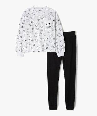 Pyjama fille avec motifs dessins de chats vue1 - GEMO (JUNIOR) - GEMO