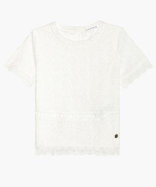 Tee-shirt fille en broderie - Lulu Castagnette vue2 - LULUCASTAGNETTE - GEMO