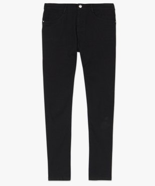Pantalon femme en toile unie coupe droite 5 poches- Longueur L26 vue4 - GEMO (JEAN) - GEMO
