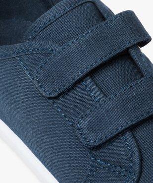 Chaussures basses garçon en toile unie fermeture scratch vue6 - GEMO (ENFANT) - GEMO