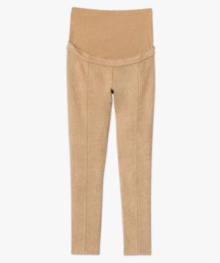Pantalon de grossesse en suédine vue4 - GEMO (MATER) - GEMO