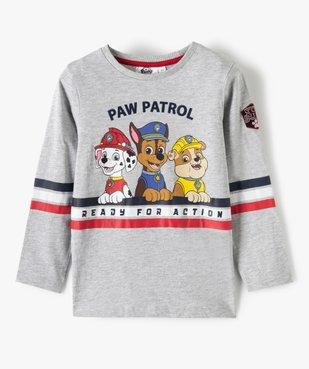 Tee-shirt garçon à manches longues imprimé - La Pat'Patrouille vue1 - PAT PATROUILLE - GEMO