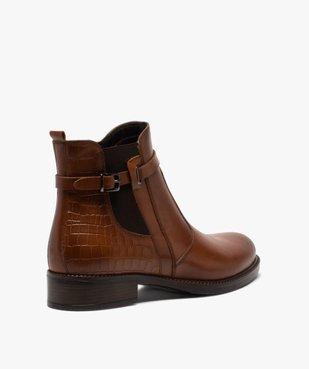 Boots femme à talon plat et bride décorative vue4 - GEMO (CASUAL) - GEMO