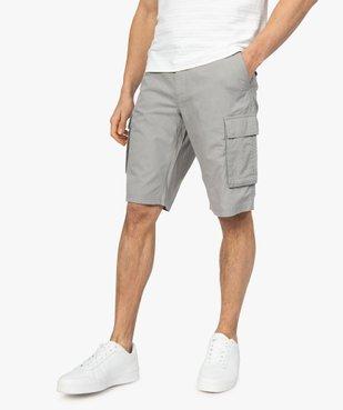 Bermuda homme avec larges poches à rabat vue1 - GEMO (HOMME) - GEMO