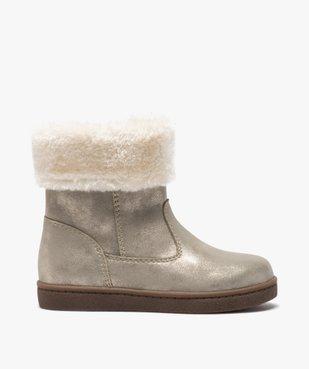 Boots fille à col rembourré en fourrure imitation vue1 - GEMO (ENFANT) - GEMO