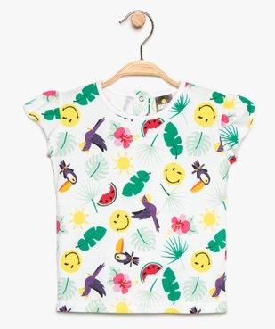 Tee-shirt bébé fille à imprimé tropical - SmileyWorld vue1 - SMILEY - GEMO