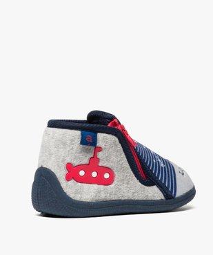 Chaussons bébé semelle intérieure cuir style marin - Absorba vue4 - ABSORBA - GEMO