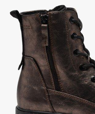Bottines femme métallisées à lacets et semelle crantée vue6 - SOFTRELAX - Nikesneakers