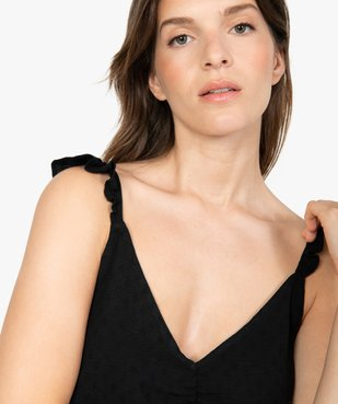 Blouse femme ample à bretelles volantées vue2 - GEMO(FEMME PAP) - GEMO