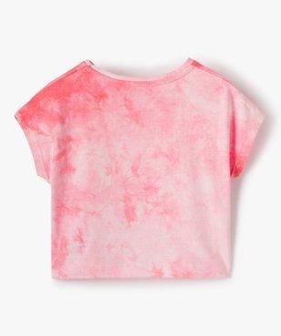 Tee-shirt court fille avec motif scintillant sur l'avant vue3 - GEMO (ENFANT) - GEMO
