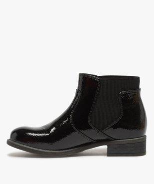Boots fille unis tige vernie et ruban décoratif vue3 - Nikesneakers (ENFANT) - Nikesneakers