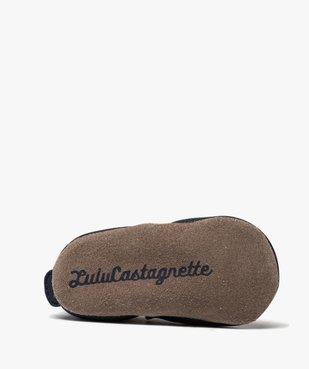 Chaussons de naissance bébé fille en cuir style marin - Lulu Castagnette vue6 - LULU CASTAGNETT - GEMO