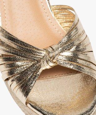Sandales femme à talon compensé et fines brides nouées vue6 - GEMO(URBAIN) - GEMO