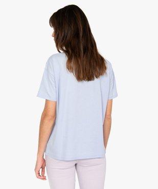 Tee-shirt femme à manches courtes avec message - Disney vue3 - DISNEY DTR - GEMO