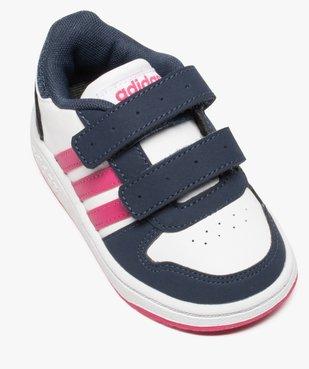 Basket basse tricolore à scratchs - Adidas Hoops 2.0 CMF vue5 - ADIDAS - GEMO