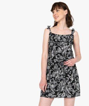 Robe femme courte à bretelles vue1 - GEMO(FEMME PAP) - GEMO