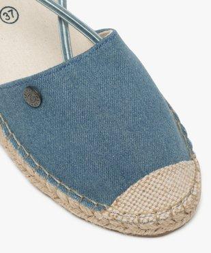 Sandales femme en toile à talon compensé – Terre de Marins Dessus denim vue6 - TERRE DE MARINS - GEMO