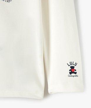 Tee-shirt fille à manches longues avec sequins – Lulu Castagnette vue3 - LULUCASTAGNETTE - GEMO