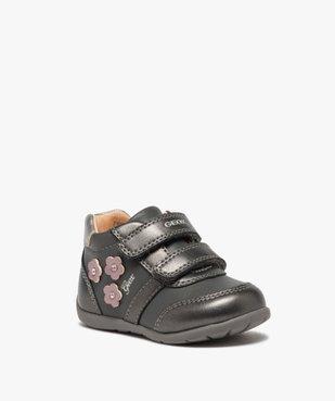 Chaussures bébé fille à scratch décor fleurs - Geox vue2 - GEOX - Nikesneakers