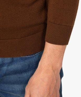 Pull homme à col rond 100% coton biologique vue2 - GEMO C4G HOMME - GEMO