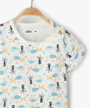 Pyjashort bébé garçon deux pièces à motifs exotiques vue2 - GEMO(BEBE DEBT) - GEMO