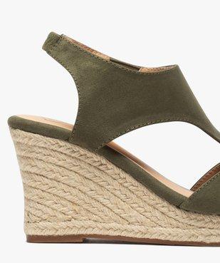 Sandales femme unies à talon compensé dessus couvrant vue6 - GEMO(URBAIN) - GEMO