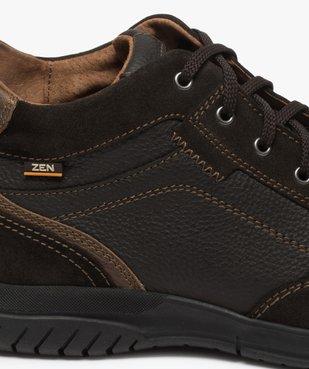 Low-boots homme confort avec nombreuses surpiqûres - Zen vue6 - GEMO (CONFORT) - GEMO