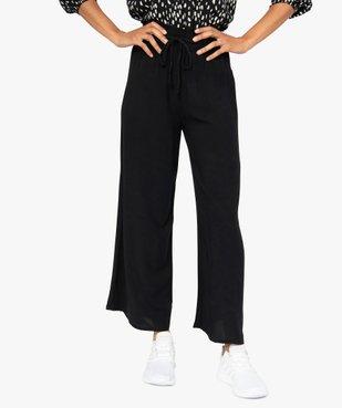 Pantalon femme large et fluide avec ceinture tressée vue1 - GEMO(FEMME PAP) - GEMO