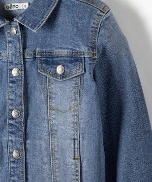 Veste fille en jean extensible vue2 - GEMO (ENFANT) - GEMO