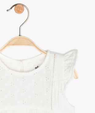Blouse bébé fille ample en double gaze de coton vue2 - GEMO (ENFANT) - GEMO