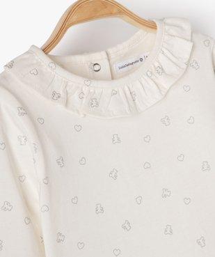 Tee-shirt bébé fille avec motifs pailletés – Lulu Castagnette vue2 - LULUCASTAGNETTE - Nikesneakers