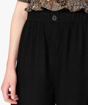 Short femme uni avec taille élastiquée  vue2 - GEMO(FEMME PAP) - GEMO