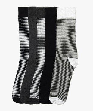 Lot de 5 paires de chaussettes à fies rayures vue1 - GEMO(HOMWR HOM) - GEMO