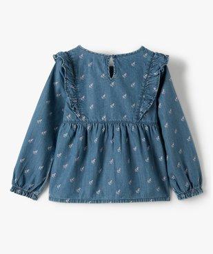 Chemise fille en chambray à motifs fleuris vue3 - GEMO (ENFANT) - GEMO